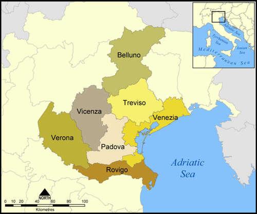 The Provinces of Veneto - ©2005 Norman Einstein Wikipedia